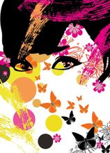 W+G Tapet Idealdecor Murals Floral Girl