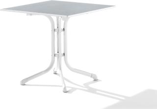 Puroplan cafébord Vit/ljusgrå 80x80 cm