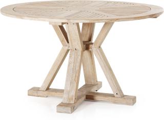 Circus matbord Vitblästrad teak 130 cm