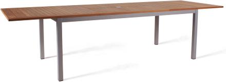 Twin matbord Silver/teak 200-300x100 cm