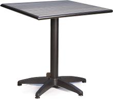 Bistro cafébord Svart/grå 70x70 cm