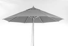Rome parasoll Grå olefin silverfärgad stång 3,5 m