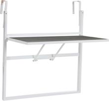 Leone balkongbord Blank vit/grå 80x76 cm