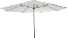 Empoli parasoll Silver/vit 3,5 m