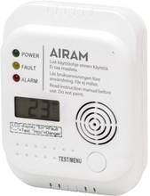 AIRAM Kolmonoxidlarm batteridriven 3xAA 7126602 Replace: N/AAIRAM Kolmonoxidlarm batteridriven 3xAA