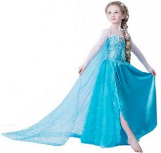 Söt frost frozen princess elsa klänning