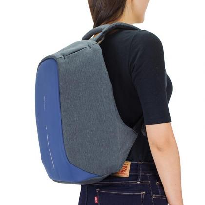 Stöldskyddad ryggsäck, kompakt - Marinblå