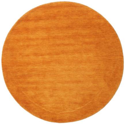 Handloom - Orange matta Ø 100 Modern, Rund Matta