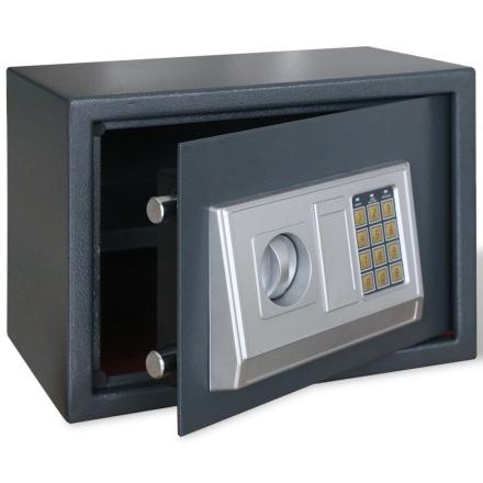 vidaXL Electronisk digitalt pengeskab med hylde 35 x 25 x 25 cm