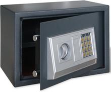 vidaXL Elektroniskt kassaskåp med hylla 35 x 25 x 25 cm
