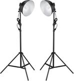 Studiolampor med reflektor och stativ 24 watt