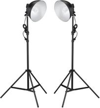 vidaXL Studiolampor med reflektor och stativ 24 watt