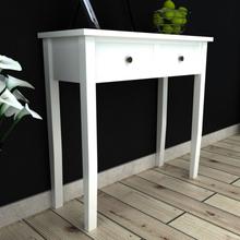vidaXL Avlastningsbord med två lådor vit