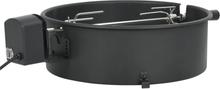 vidaXL Rotisserieset med ring grill 47 cm svart