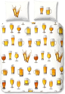 Good Morning Sengetøy 5808-A Beerglass 140x200/220 cm hvit
