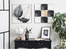 Beliani Väggdekoration svart/vit/guld TITANIUM