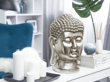 Beliani Dekorativ figur 41 cm silver BUDDHA