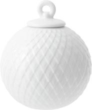 Lyngby Porcelæn Rhombe kule, hvit