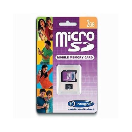 Integrert 2Gb microSD-kort med SD-adapter