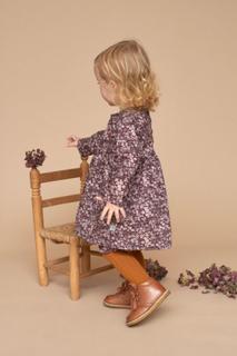 Wheat Elvira blomsterkjole til baby, soft eggplant