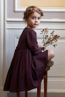 Wheat Magda kjole til barn, soft eggplant