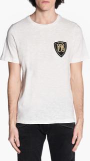 Balmain - Pierre Balmain Logo T-Shirt - Hvid - M