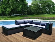 Panana New Upgrade Framework 6 pcs Conservatory Rattan Corner Sofa Set Garden Furniture Set Large Party Swimming Pool Lounge