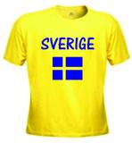 T-shirt sverige + flagga