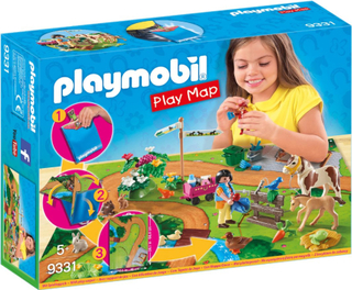 Playmobil Pony Riders med gulvplan 9331