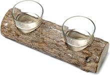 Stubb med glas 21 cm