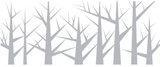 Fönsterfilm - skog 100cm x 33cm