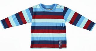 Minymo t-shirt nicky 01 - t-shirt l/æ yd-stribet blue