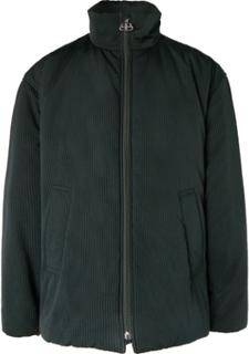 Oversized Padded Striped Cotton Jacket - Green