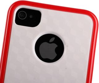 Cubus vit - dual compound (röd) iphone 4/4s kombinationsskal