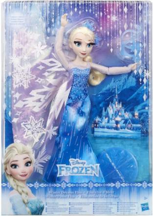 Disney Frozen Frost Deluxe Elsa Docka Med Böjbara Leder 30cm