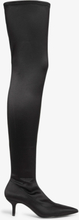 Stretch over the knee boots - Black
