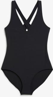Cross-back swimsuit - Black