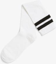 Knee-high sporty socks - White