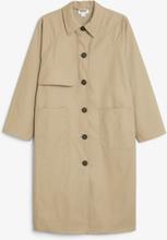 Boxy raglan coat - Beige