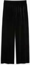 Flowy velvet trousers - Black