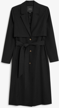 Soft trench coat - Black