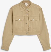 Cropped denim jacket - Beige