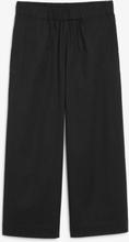 Organic cotton trousers - Black