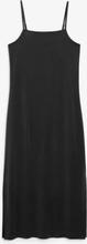 Side slit dress - Black