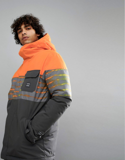 Billabong Tribong Snow Jacket in Orange - Orange