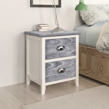 vidaXL Sängbord grå och vit 38x28x45 cm paulownia