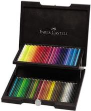 Faber Castell FC-110072 Kleurpotlood Polychromos Houten Koffer 72 Stuks