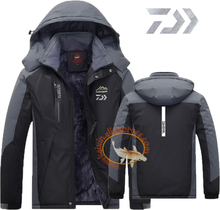 2019 Daiwa Fishing Clothing Winter Men Women Autumn Winter Waterproof Warm Fishing Jackets Patchwork Hooded Mountaineering Suits
