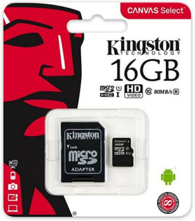 Mikro SD-kort Kingston SDCS/16GB 16 GB