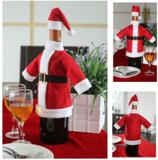 Jultomtedräkt till vinflaska
